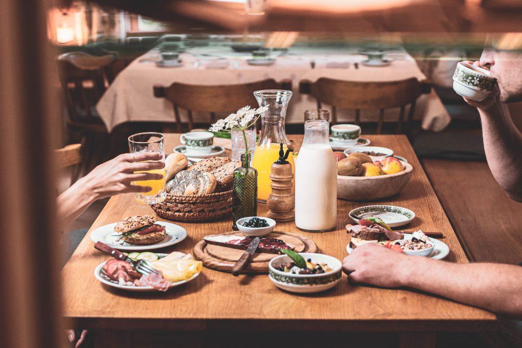 Organic hotel Feistererhof breakfast