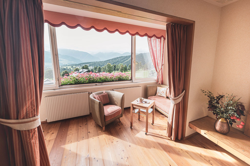Organic hotel Feistererhof double room loggia